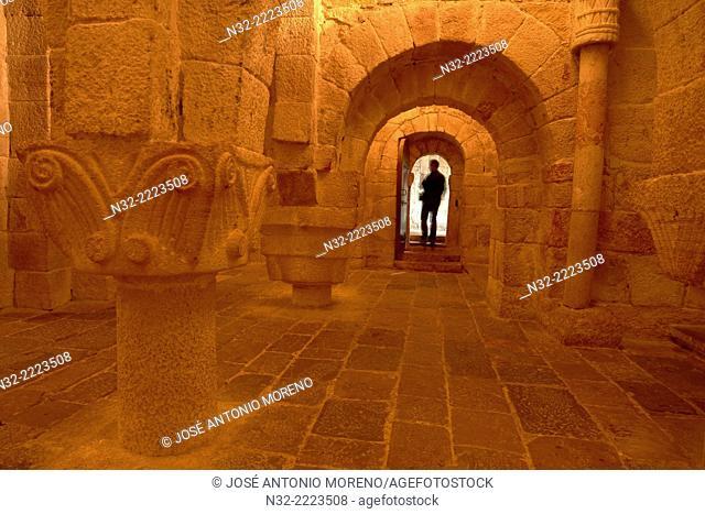 Leyre, Navarra, San Salvador de Leyre monastery, Crypt, Navarre, Way of St James, Spain