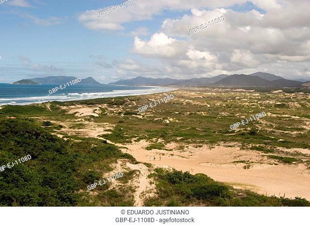 Dunes in the Beach of Joaquina, Florianópolis, Santa Catarina, Brazil