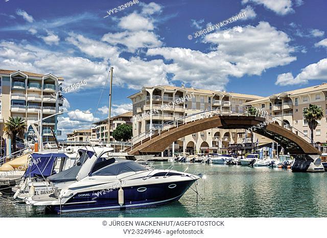 Marina of Port Frejus, Fréjus, Var, Provence-Alpes-Cote d`Azur, France, Europe