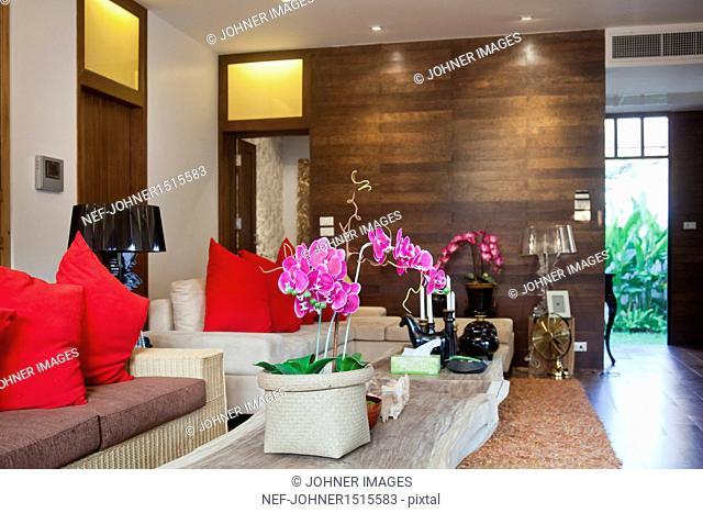 View of elegant living room