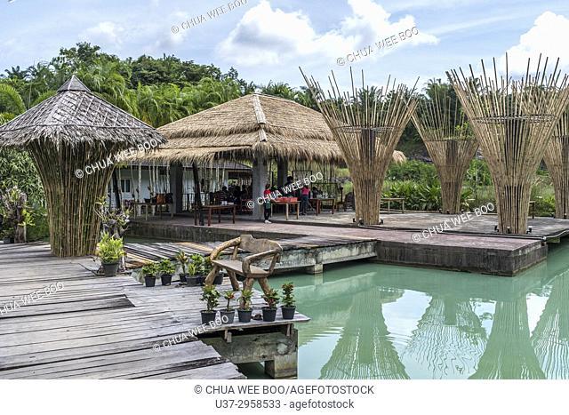 Mines turns to restaurant in Krabi, Thailand