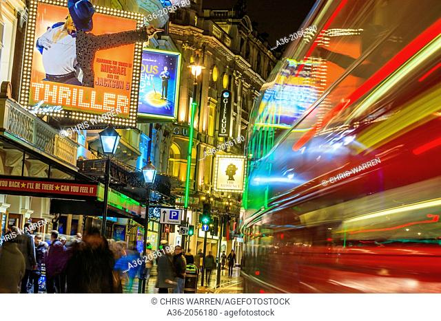 Lyric Theatre Shaftesbury Avenue London UK in evening light