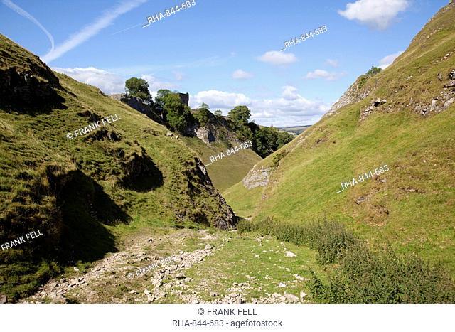 Peveril Castle, Castleton, Derbyshire, England, United Kingdom, Europe