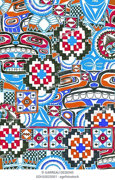 Colorful tribal design