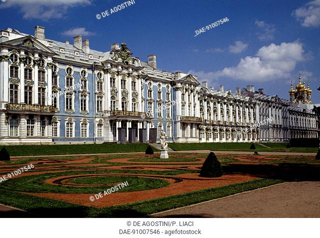 Catherine Palace, 1752-1756, architect Bartolomeo Francesco Rastrelli (1700-1771) (Unesco World Heritage List, 1990), Pushkin (Tsarskoye Selo)
