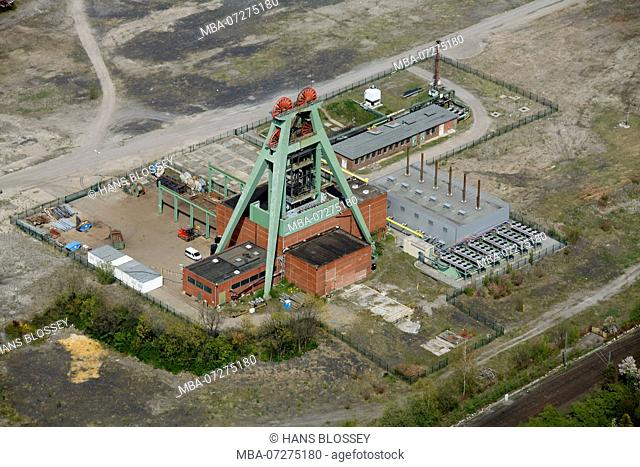 former coal mine Achenbach Datteln-Hamm-Kanal, Bergkamen, Ruhr area, North Rhine-Westphalia, Germany, Europe