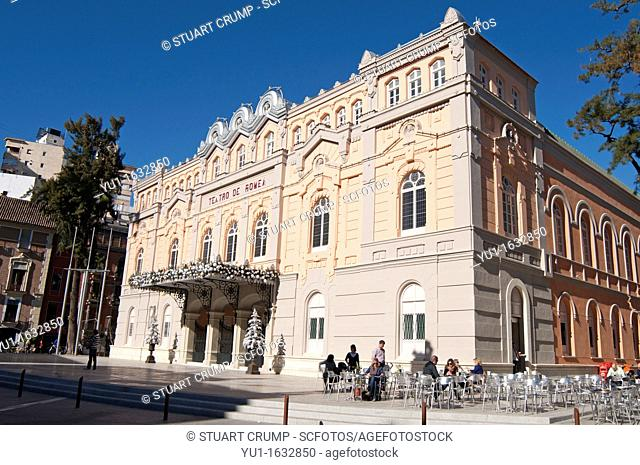 Architecture , City of murcia , Entertain , Entertainment , Facade , Live performance , Murcia , Southeastern spain , Spain , Teatro de romea , Theatre