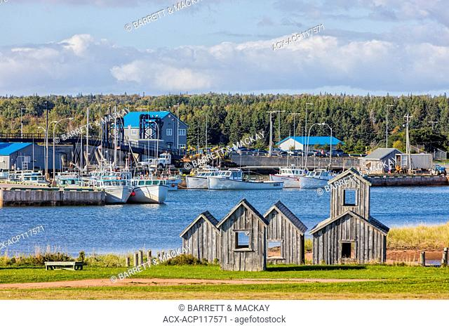Fishing boats tied up at wharf, Wood Islands, Prince Edward Island, Canada