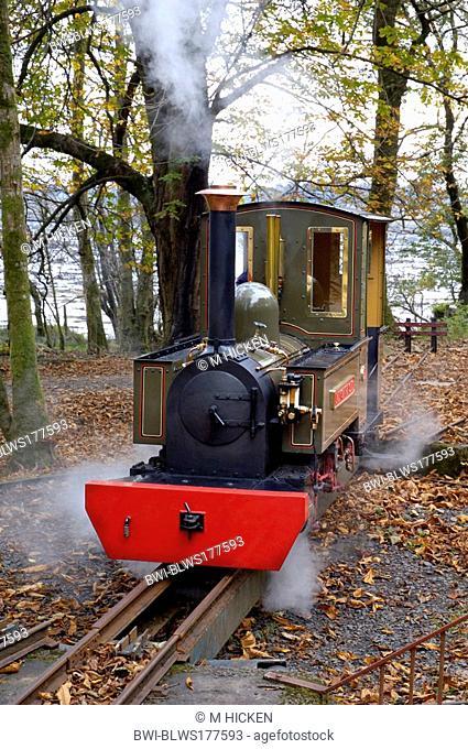 steam engine 'lady of the isles',on the turntable at Torosay, United Kingdom, Scotland, Isle of Mull