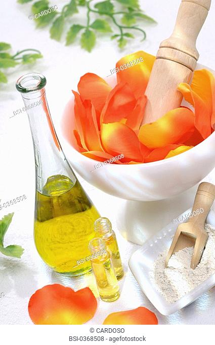 BEAUTY CARE Conceptual image : development of organic cosmetic products with natural elements