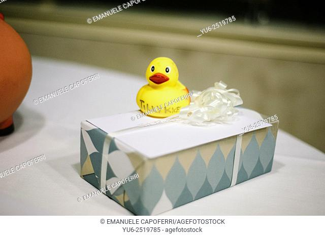 Gift package, rubber duck