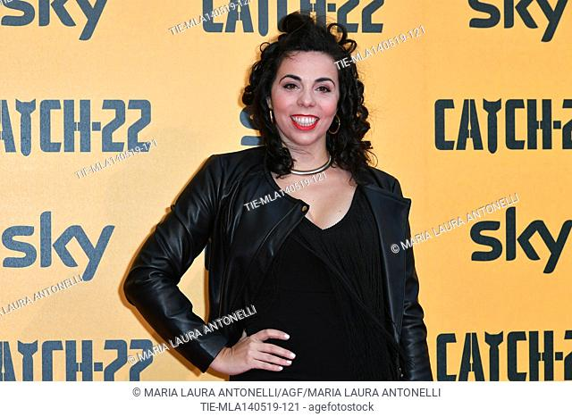 Valentina Ruggeri of the Ladyvette during the Red carpet for the Premiere of film tv Catch-22, Rome, ITALY-13-05-2019