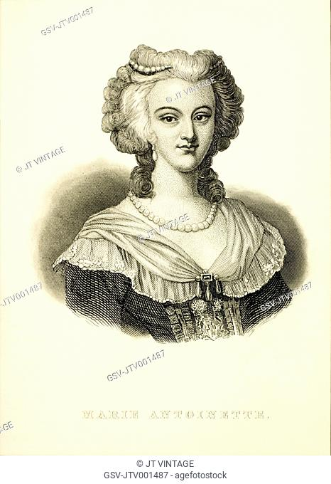 Marie Antoinette (1755-1793), Queen of France, Wife of Louis XVI, Portrait