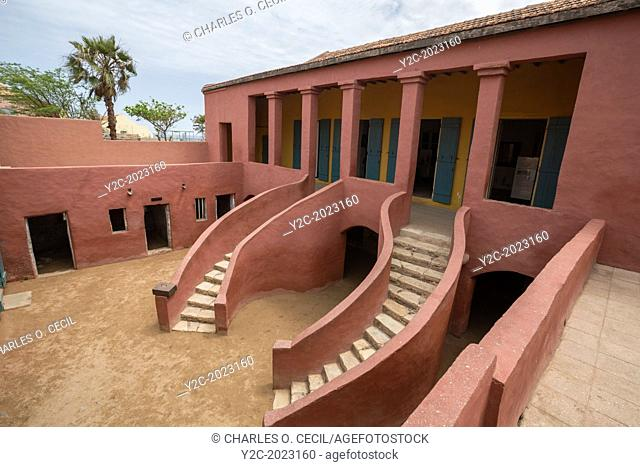 "Maisons des Esclaves, House of Slaves, with its """"Gate of No Return,"""" Goree Island, Senegal"