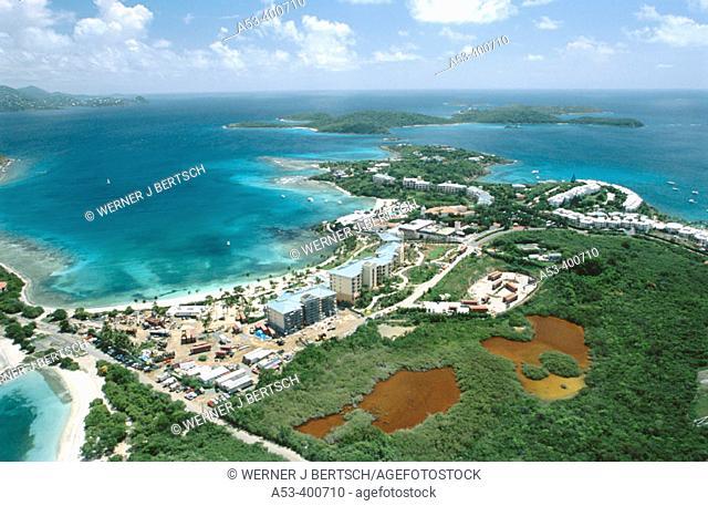 Bluebeard beach, St. Thomas, US Virgin Islands. West Indies, Caribbean