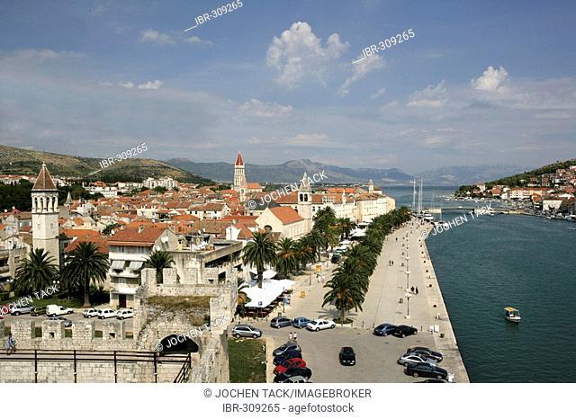 Water front, Trogir, dalmatian coast, Middle Dalmatia, Croatia