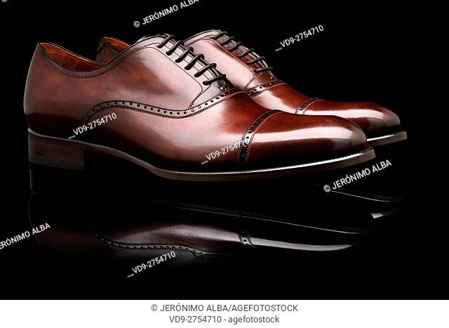 Italian handmade craft leather shoes. Italy Europe