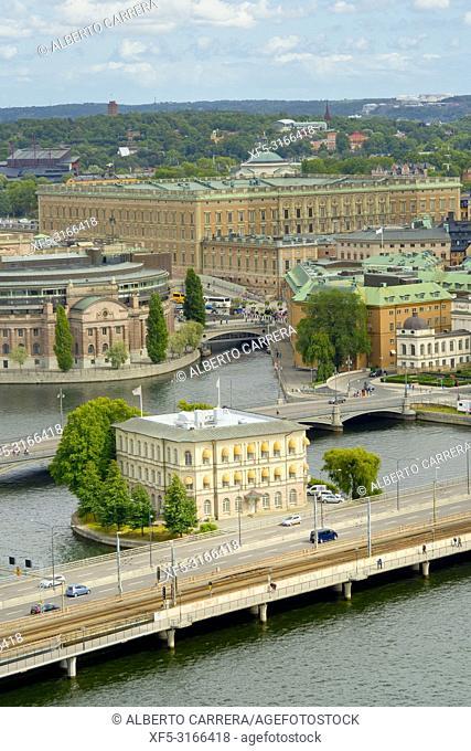 Riddarfjärden from City Hall Tower, Gamla Stan, Stockholm, Sweden, Scandinavia, Europe