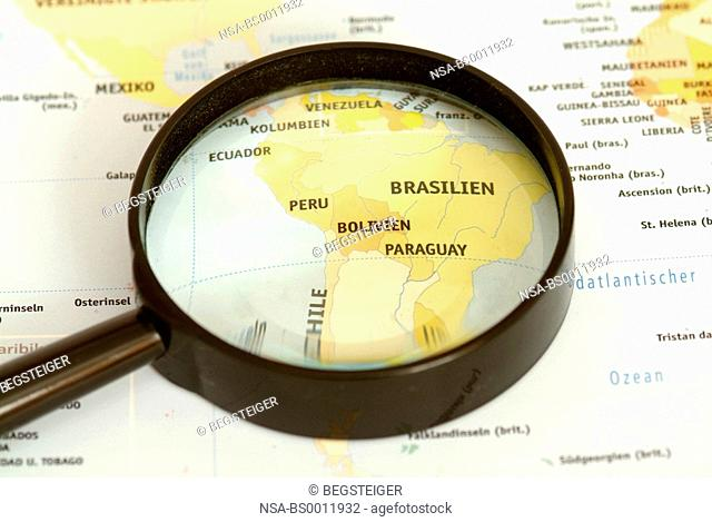 South-America under loupe