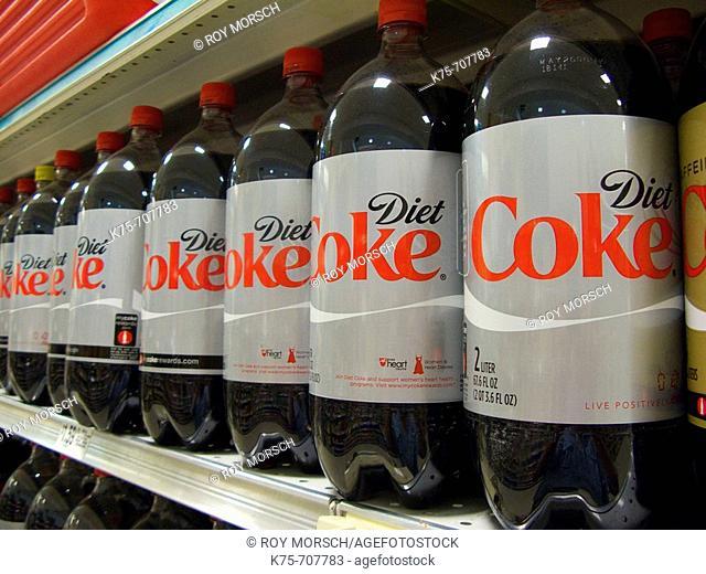 Diet Coke on shelves