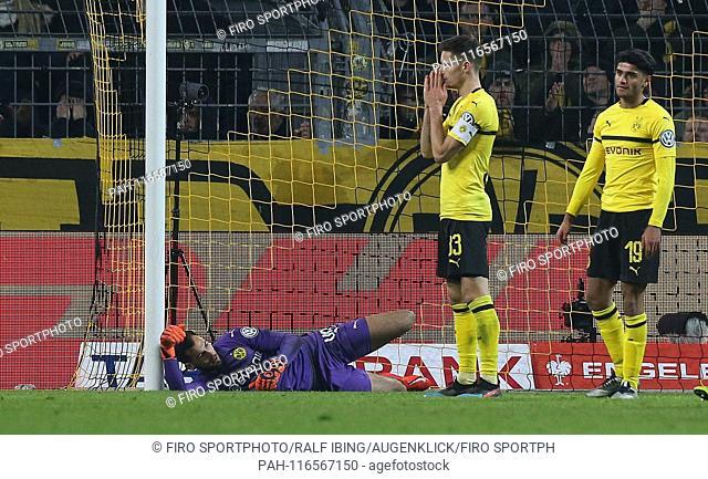 firo: 05.02.2019. Football, 1.Bundesliga, season 2018/2019, DFB Cup, Round of 16, BVB, Borussia Dortmund - SV Werder Bremen 3: 3 and 5: 7 nE goal to 3: 3 by...