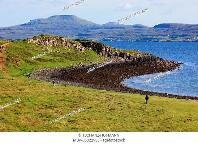 Scotland, the Inner Hebrides, Isle of Skye, Duirinish peninsula, landscape at Coral Beach close Claigan