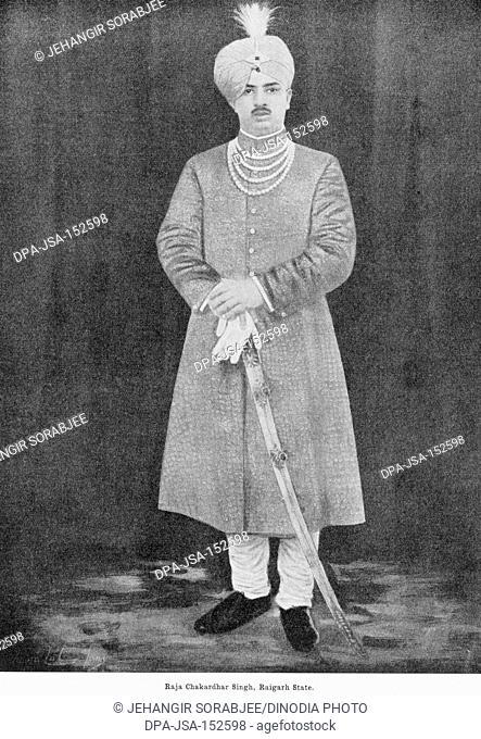 Princes of India Raja Chakardhar Singh ; Raigarh State in Raigarh district ; Chhattisgarh ; India NO MR