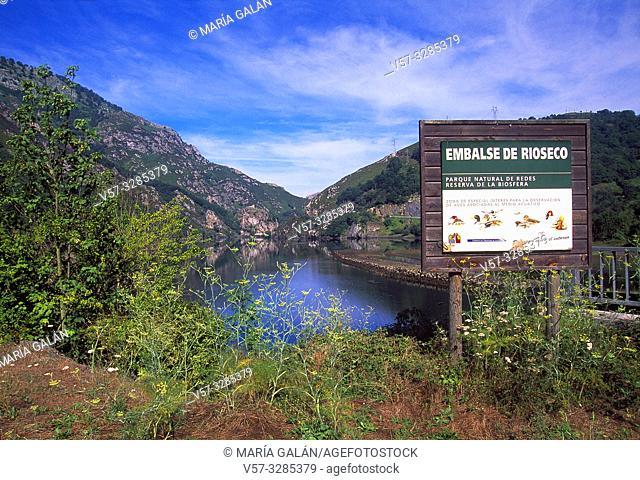 Rioseco reservoir. Redes Nature Reserve, Asturias, Spain