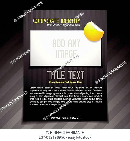 vector business brochure flyer design