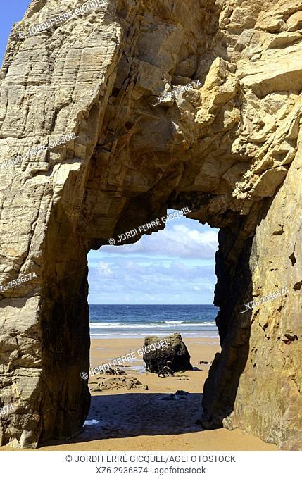 Arche de Port Blanc, Saint-Pierre-Quiberon, Morbihan, Brittany, France, Europe