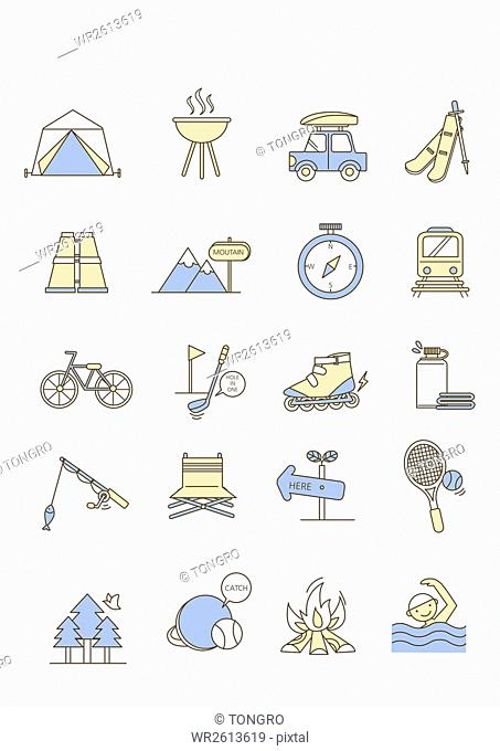 Icons related to leisure activities