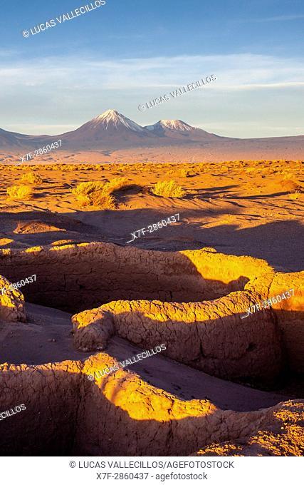 Ruins of Tulor village, dating from 100BC and 100AD, near San Pedro de Atacama, Atacama Desert, Región de Antofagasta, Chile
