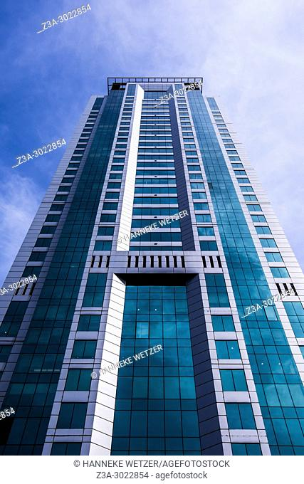 Supertall skyscraper at the JBR walk of Dubai Marina, Dubai, UAE
