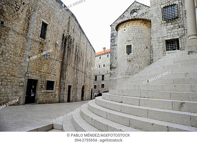San Sebastian church in Svetog Dominica street, Dubrovnik, Croatia;