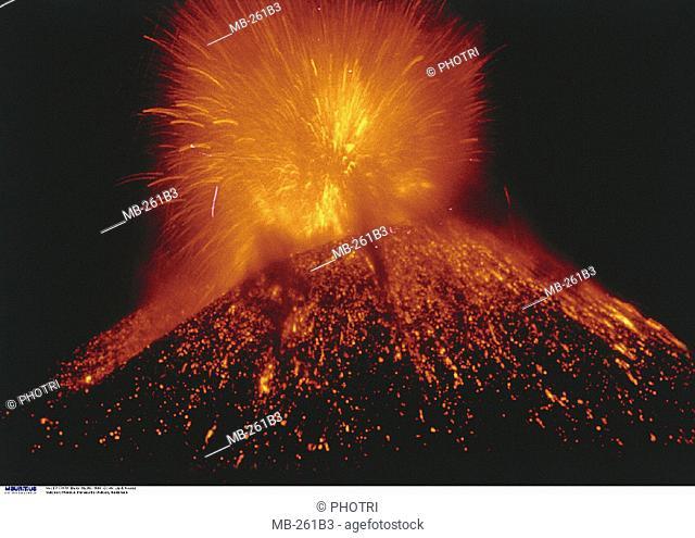 Mexico, Paracutin, Night, Volcanic eruption