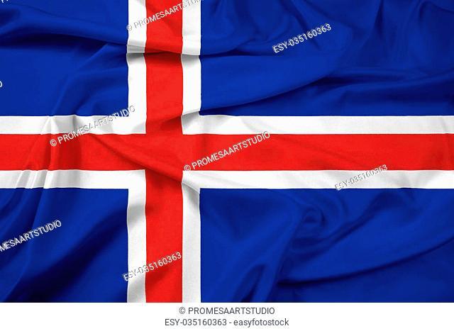 Waving Iceland Flag