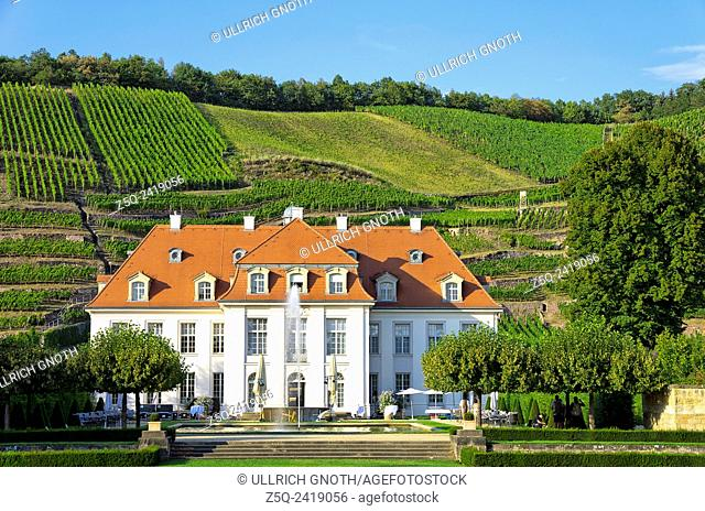 Schloss Wackerbarth Manor in Radebeul near Dresden, Germany, the seat of the Saxon State Winery