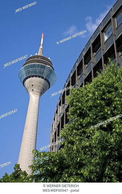 Germany, North-Rhine-Westphalia, Duesseldorf, Rhine Tower