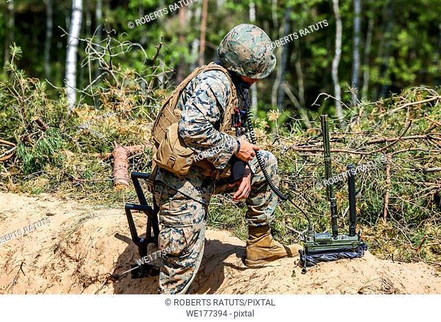 "International Military Training """"Saber Strike 2017"""", Adazi, Latvia, from 3 to 15 June 2017. US Army Europe-led annual International militaryexercise Saber..."