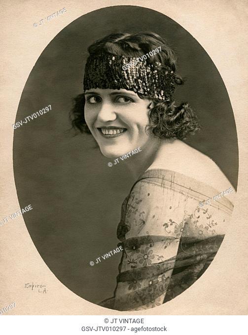 Silent Film Actress Zalla Zarana, born Rozalija Srsen in Zuzemberk, Slovenia, Publicity Portrait by Empire L.A., 1920's