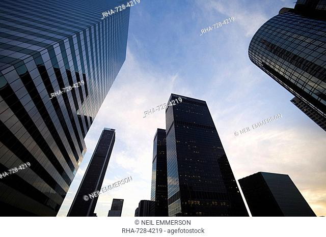 Skyscrapers, Downtown, Los Angeles, California, United States of America, North America