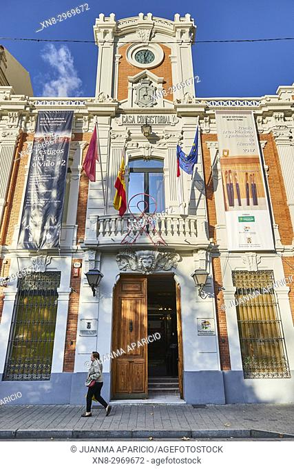 Town Hall in Plaza del Altozano, Albacete. Castilla-La Mancha, Spain