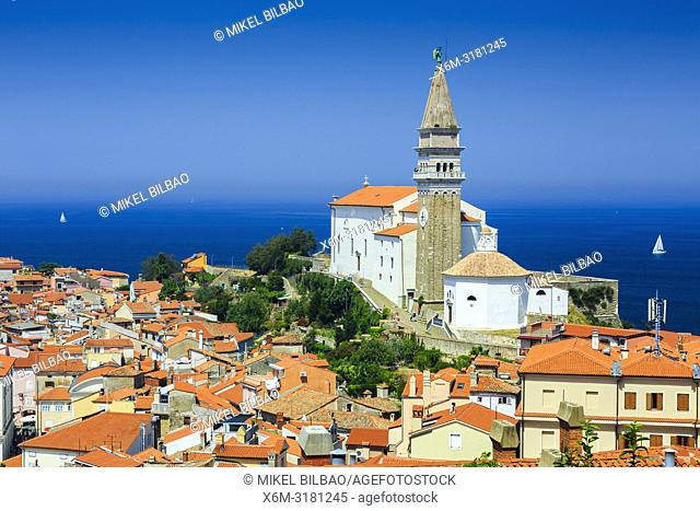 St. George's Parish Church. Piran. Slovene Istria region. Slovenia, Europe