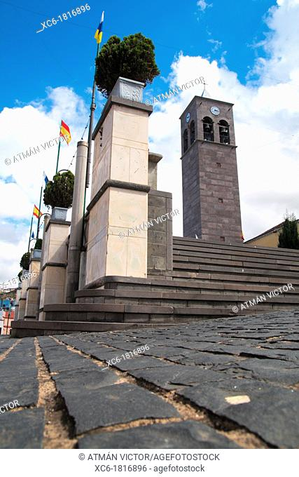 Church tower of La Guancha in Tenerife