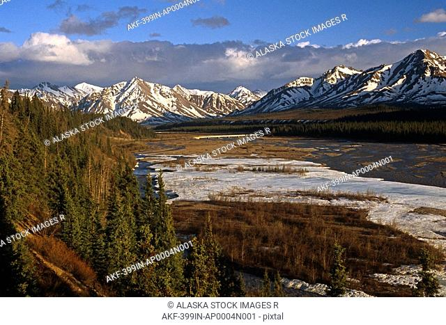Teklanika River & Alaska Range Landscape Denali NP Summer