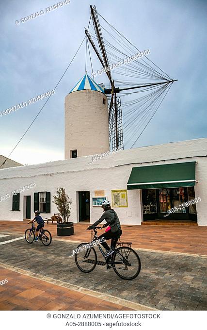 Moli de Dalt. Ethnological museum. Sant Lluis Village. Sant Lluis Municipality. Minorca Island. Balearic Islands. Spain