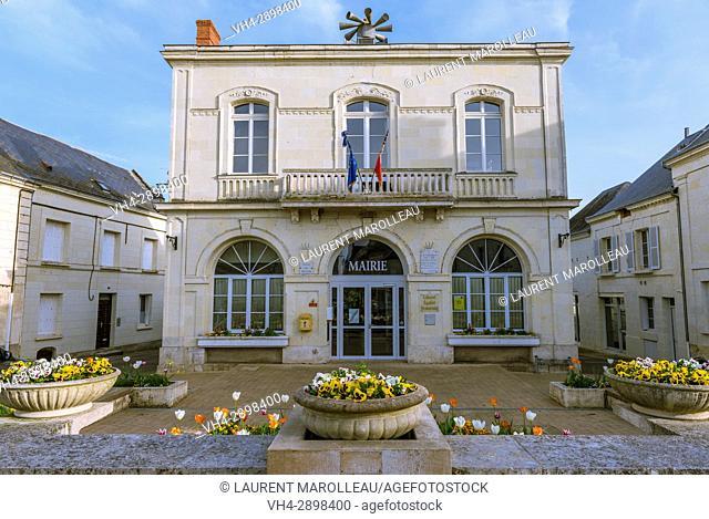 Town Hall of Chouze-sur-Loire, Chinon District, Indre-et-Loire Department, Centre-Val de Loire Region, Loire valley, France, Europe