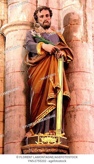 Statue of Saint Joseph, Auvillar, Aude, Tarn et Garonne, Occitanie