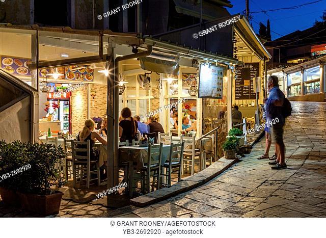 A Snack Bar In The Seaside Resort Of Kassiopi, Corfu Island, Greece