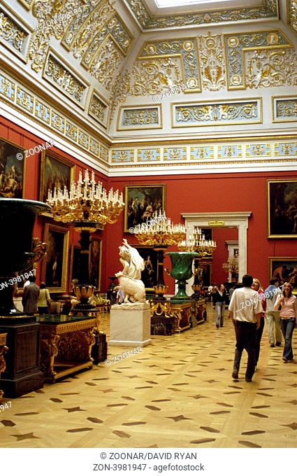 Russia, St. Petersburg, The State Hermitage Museum, The Small Italian Skylight Hall
